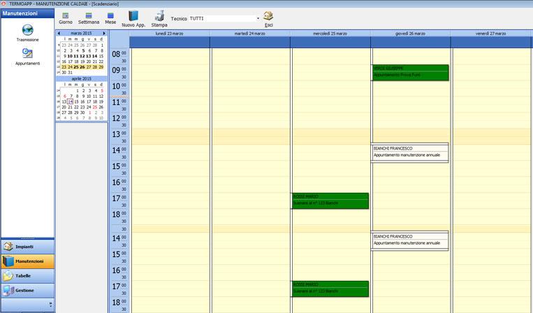 Termoapp la funzionalit del software per l 39 assistenza for Software di pianificazione del garage